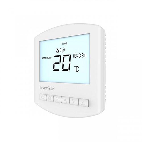 Heatmiser Slimline RF V2 Wireless Programmable Thermostat