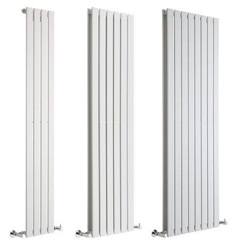 Milano Alpha White Vertical Designer Radiator Various Sizes