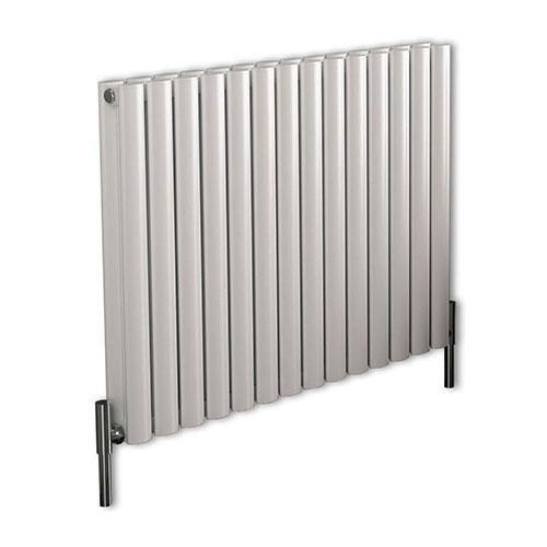 Milano Aruba Ayre Aluminium White Horizontal Designer Radiator 600mm x 830mm Double Panel