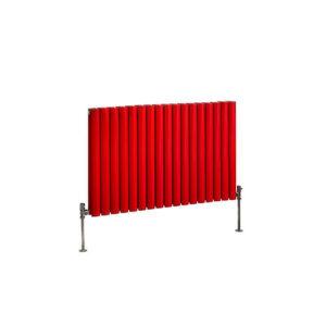 Milano Aruba Red Horizontal Designer Radiator Various Sizes