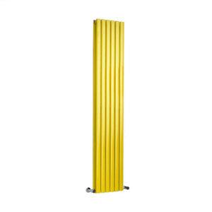 Milano Aruba Yellow Vertical Double Panel Designer Radiator Various Sizes