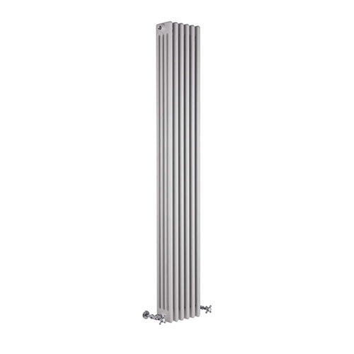 Milano Windsor Vertical Four Column White Traditional Cast Iron Style Radiator