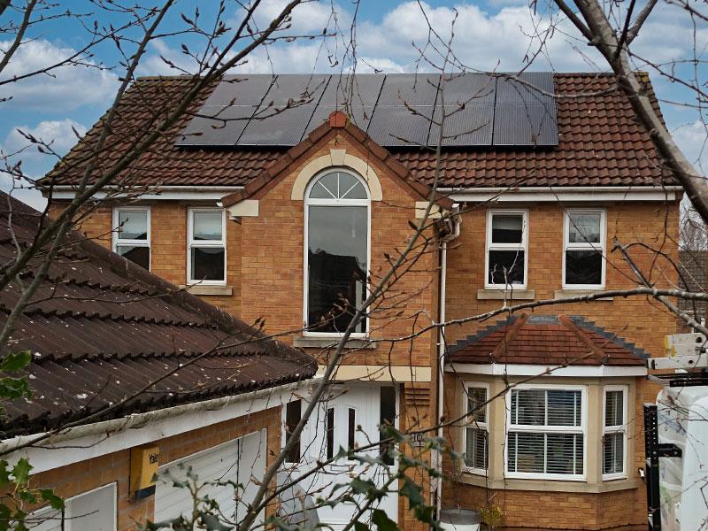 10 Panel Solar System Install In
