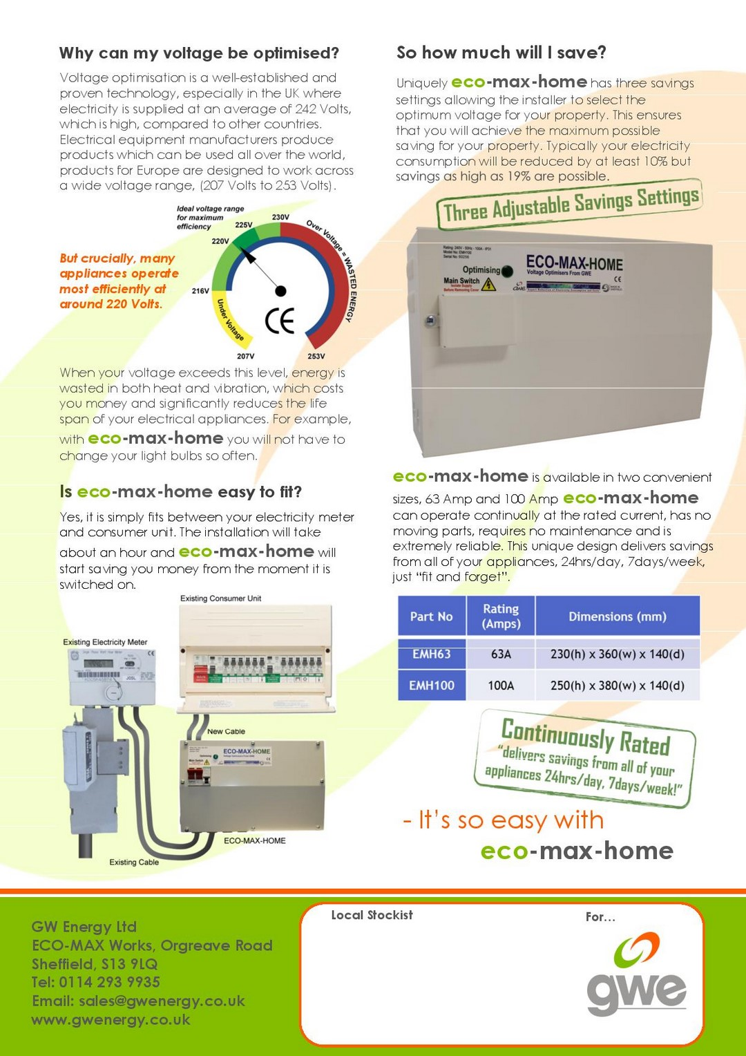 Rolec Solar iBoost Eco Max product data sheet 1 page 002 Web