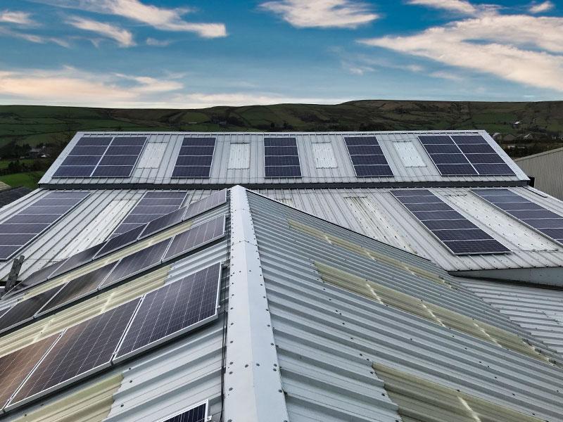 Warhouse Solar Panel Installation